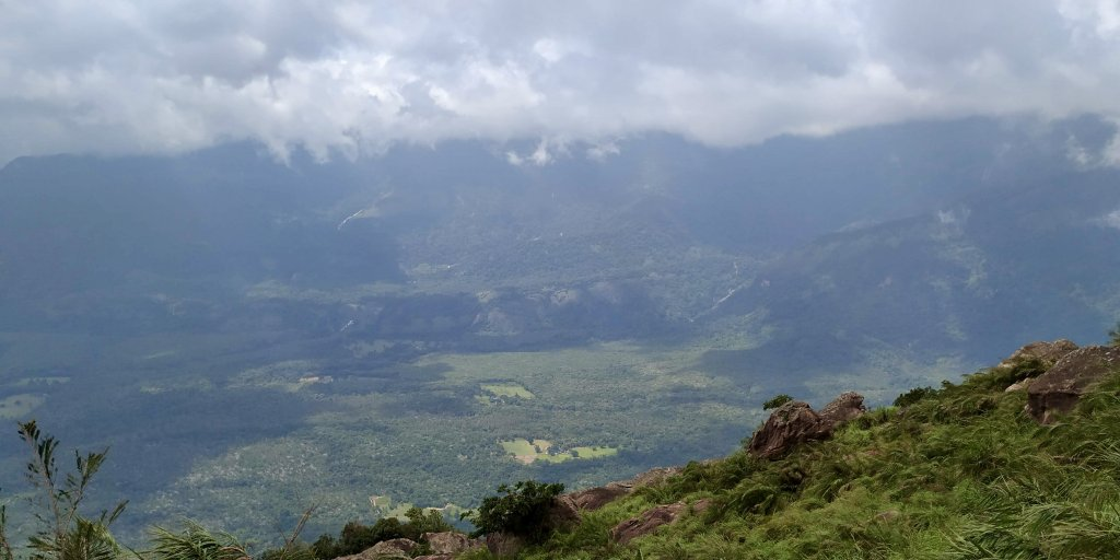 The view of Siruvani hills opposite to the Velliangiri hills